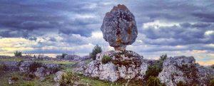 rocher pédonculaire Larzac Hivernale de Roquefort