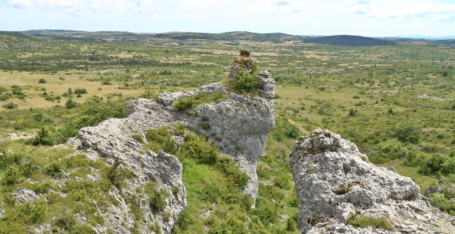 Chaos rocheux Larzac Hivernale de Roquefort